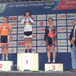 Sharon winning the Masters World Time Trial Champs 2015